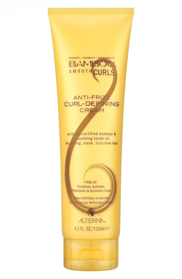 Bamboo Smooth Curls Anti-Frizz Curl Defining Cream,                             Main thumbnail 1, color,                             No Color