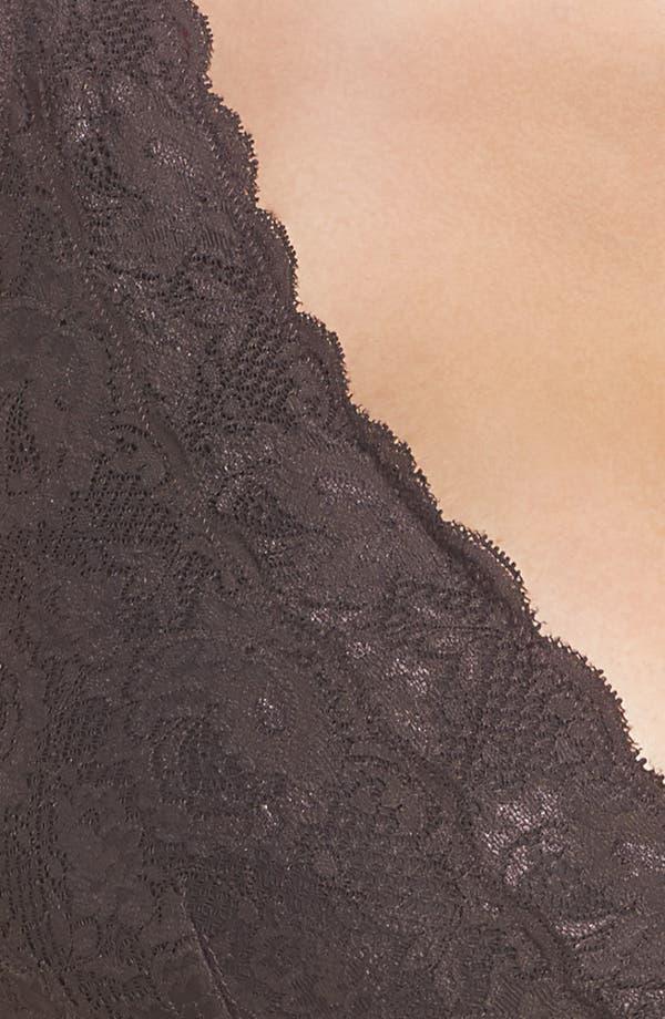 Alternate Image 5  - Cosabella Never Say Never Plungie Lace Longline Bralette (Plus Size)