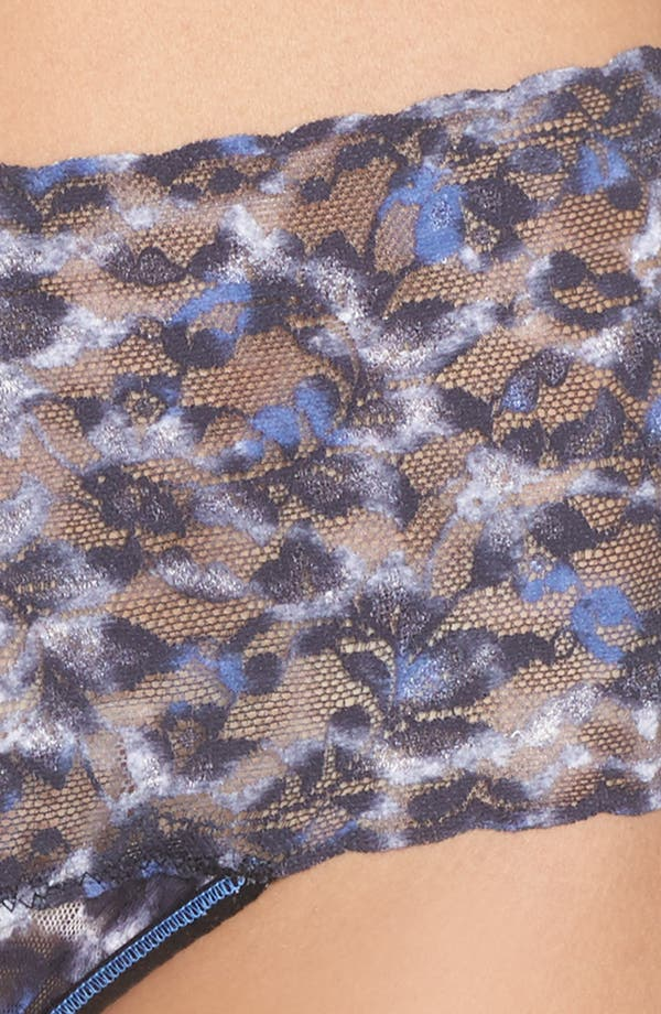 Mysterious Feline Retro Thong,                             Alternate thumbnail 5, color,                             Leopard