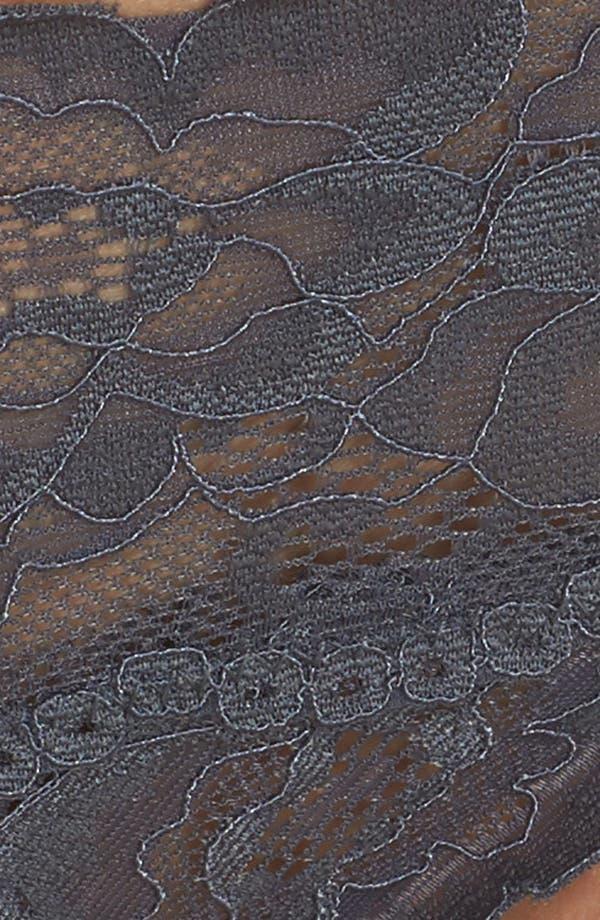 Kiss Kiss Lace Thong,                             Alternate thumbnail 9, color,                             Grey Turbulence