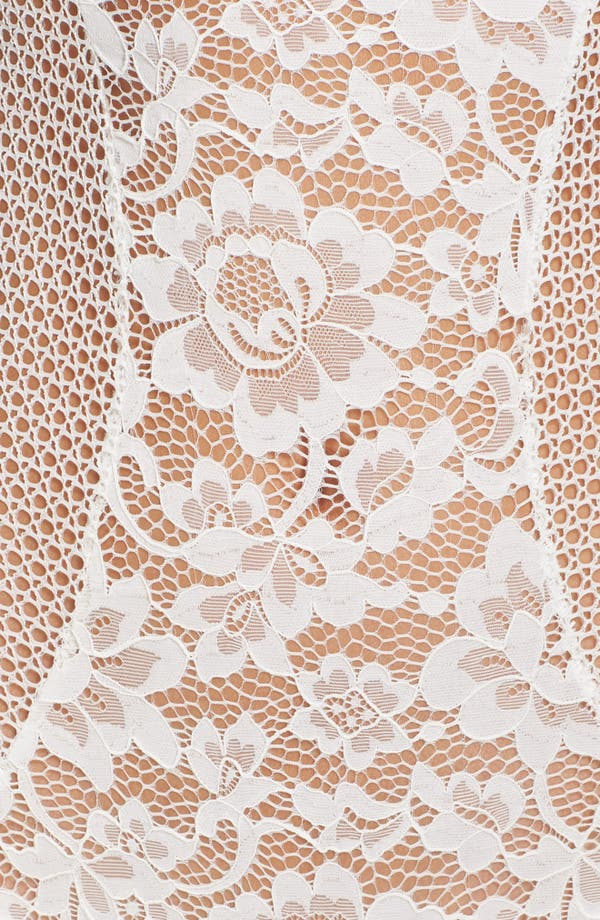 Petunia Strapless Underwire Corsette Bodysuit,                             Alternate thumbnail 6, color,                             Ivory