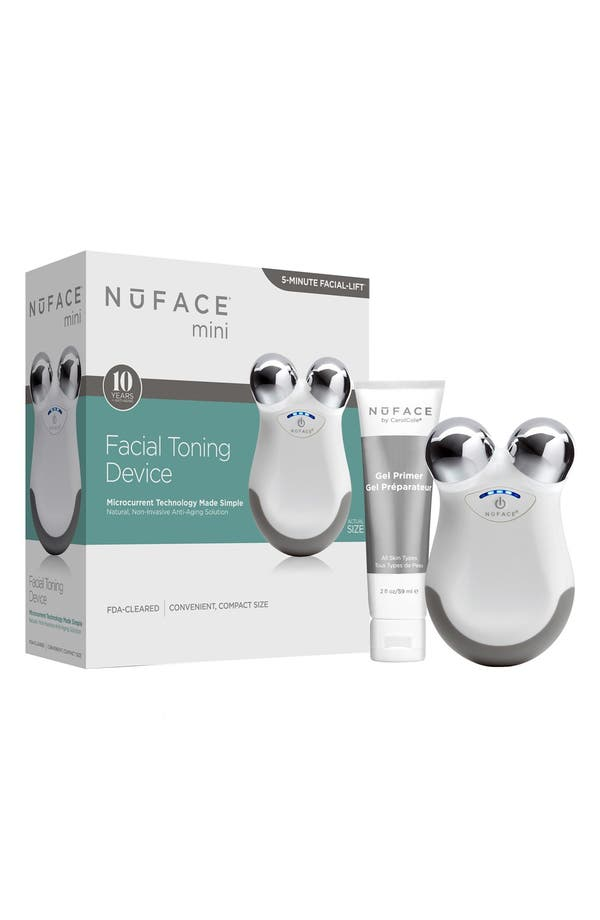 mini Facial Toning Device,                         Main,                         color, White