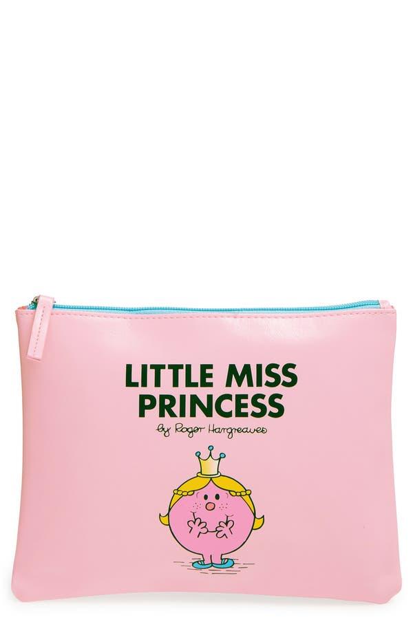 'Little Miss Princess' Pouch,                             Main thumbnail 1, color,                             Pink