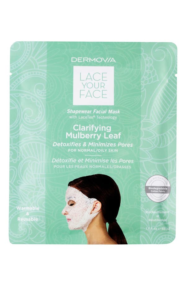 Lace Your Face Clarifying Mulberry Leaf Compression Facial Mask,                             Main thumbnail 1, color,                             None