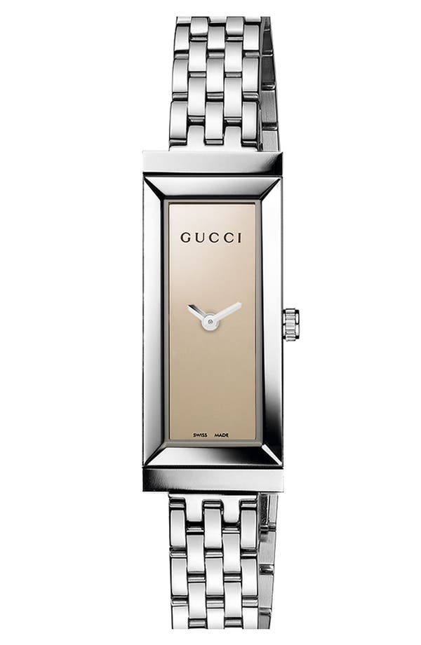 Alternate Image 1 Selected - Gucci 'G-Frame' Small Rectangle Bracelet Watch