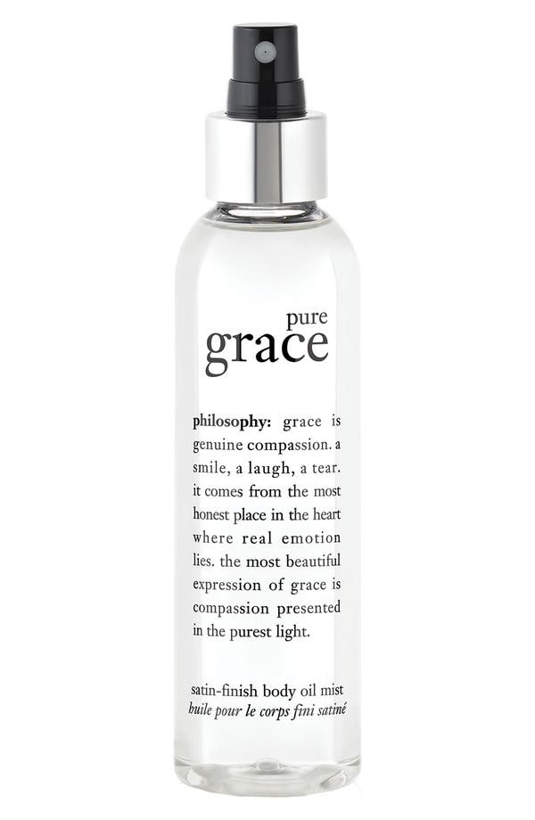 'pure grace' satin-finish body oil mist,                         Main,                         color,