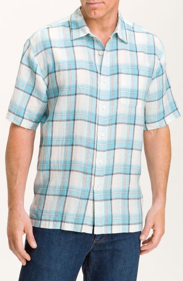 Alternate Image 1 Selected - Tommy Bahama 'Plaid City Limits' Sport Shirt