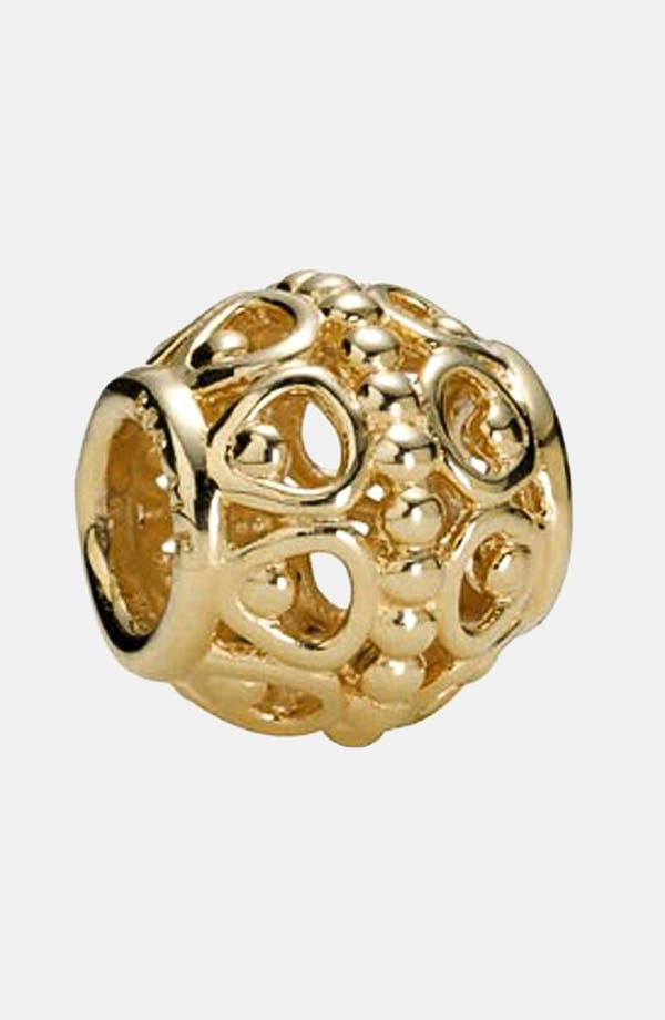 Alternate Image 1 Selected - PANDORA 'Gilded Cage' Gold Charm