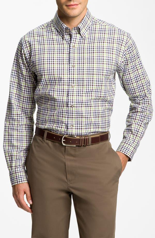 Main Image - Cutter & Buck 'Cypress' Plaid Sport Shirt (Big & Tall)