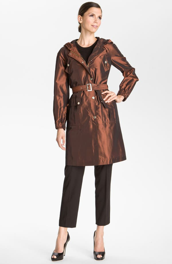 Main Image - St. John Collection Hooded Taffeta Jacket
