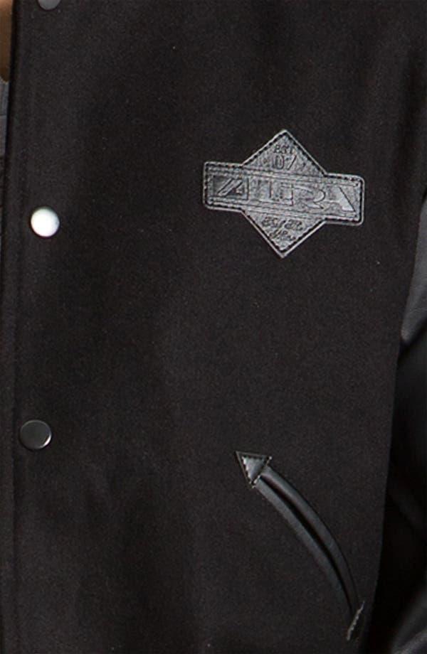 Alternate Image 3  - Lira Clothing Wool Blend Varsity Jacket