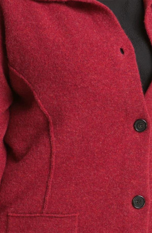 Alternate Image 3  - Eileen Fisher Boiled Wool Jacket (Plus)