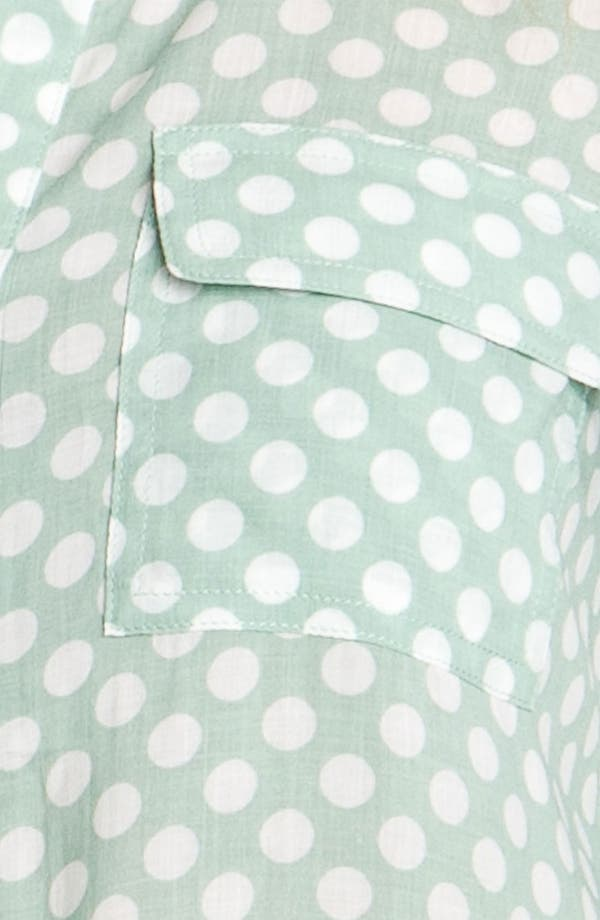 Alternate Image 3  - Gibson Polka Dot Pocket Shirt