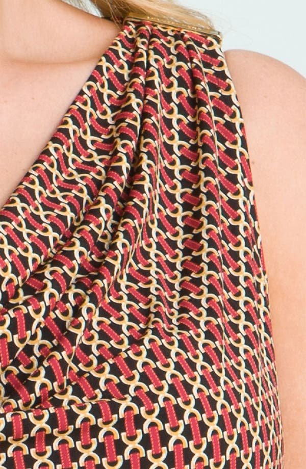 Alternate Image 3  - MICHAEL Michael Kors Print Drape Neck Top (Plus)