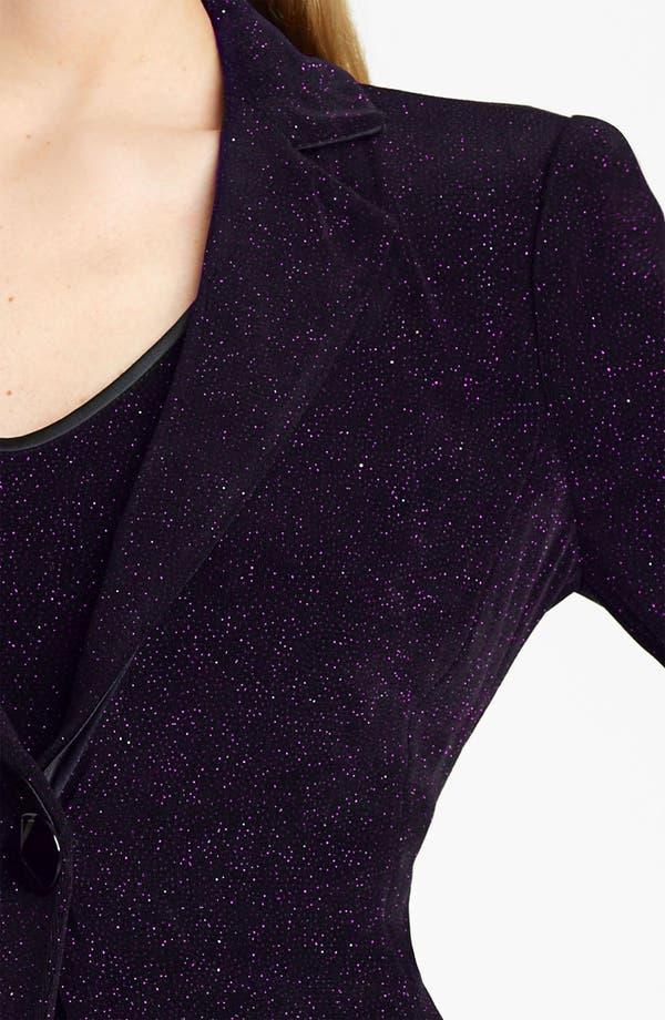 Alternate Image 3  - Armani Collezioni Glitter Jersey Jacket