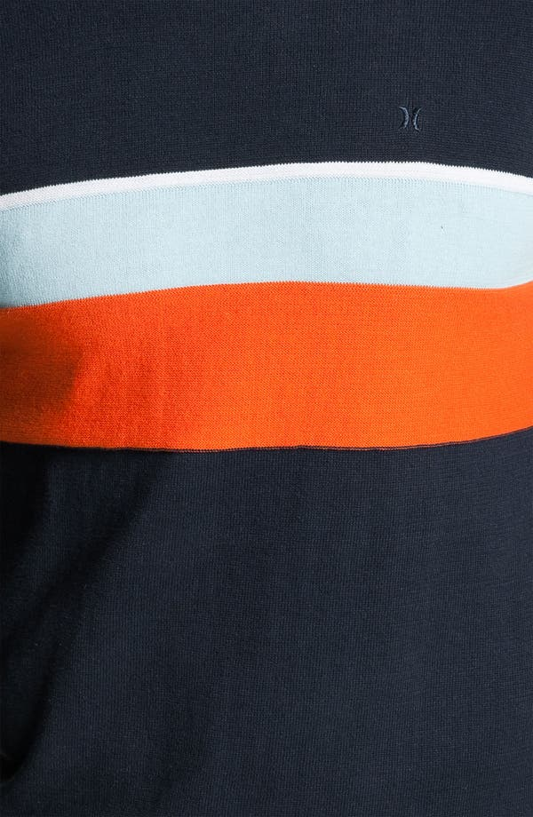 Alternate Image 3  - Hurley 'Hanger' Stripe Crewneck Sweater