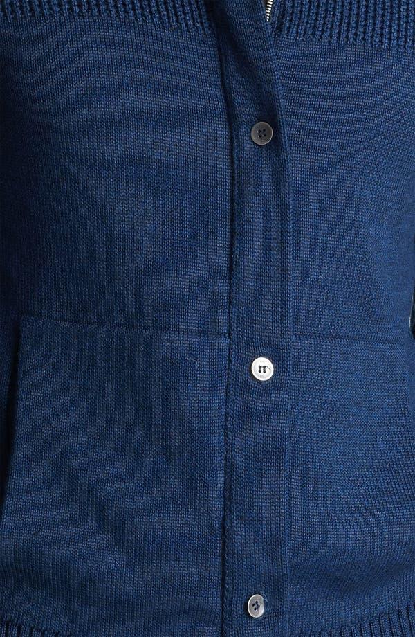 Mock Collar Sweater,                             Alternate thumbnail 3, color,                             Midnight Blue