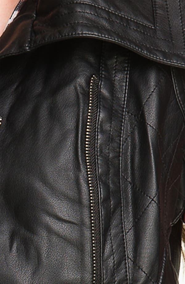 Alternate Image 3  - Coffee Shop Oversize Collar Faux Leather Vest (Juniors)