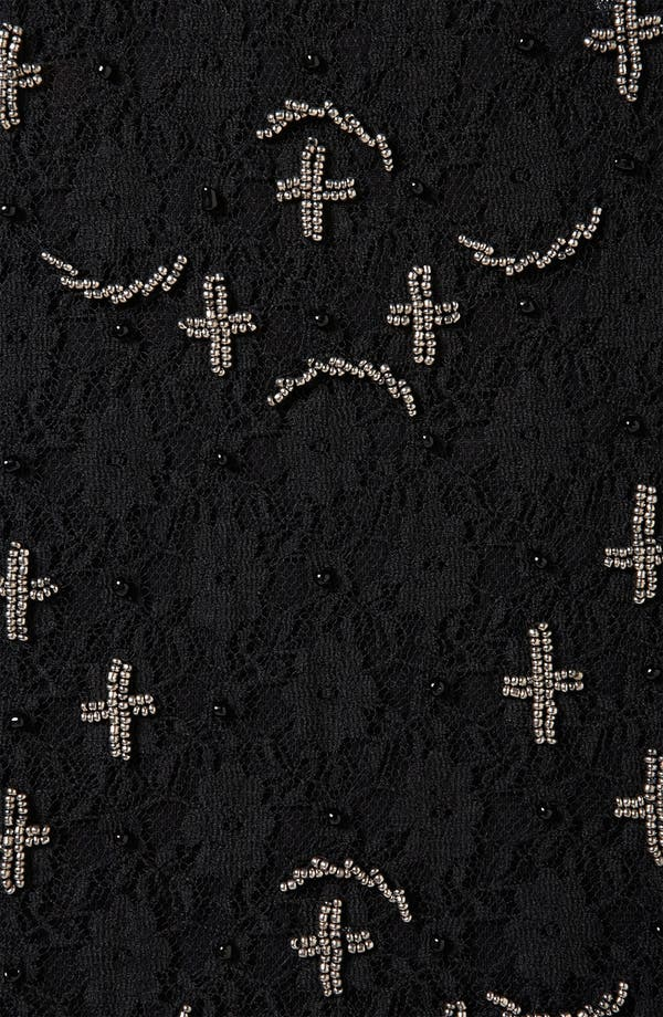 Alternate Image 3  - Topshop 'Cross' Embellished Lace Tank