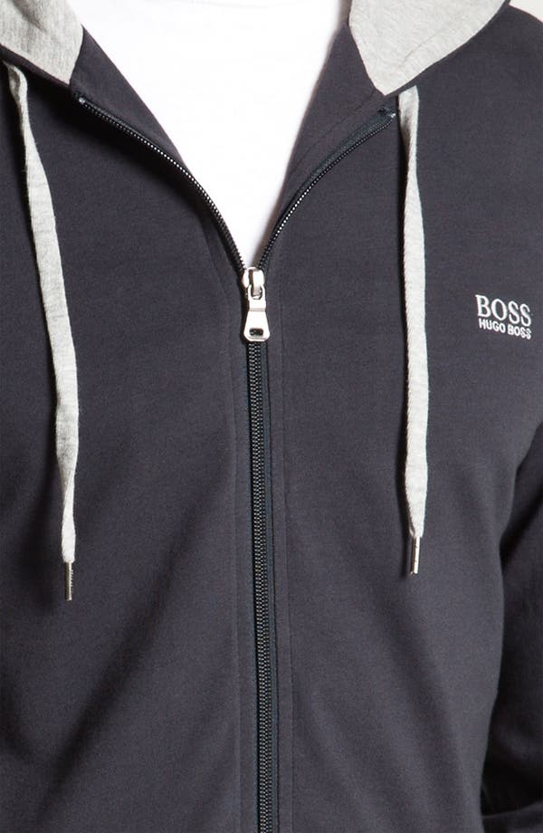 Alternate Image 3  - BOSS HUGO BOSS Cotton Zip Hoodie