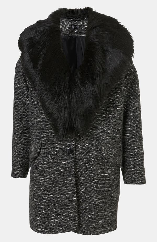 Main Image - Topshop Faux Fur Collar Coat