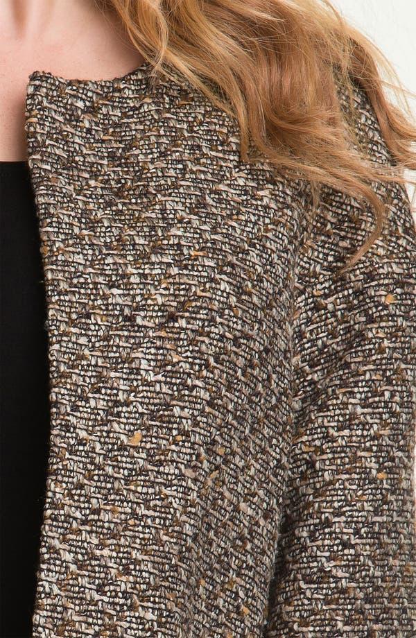 Alternate Image 3  - Louben Collarless Tweed Jacket (Plus)