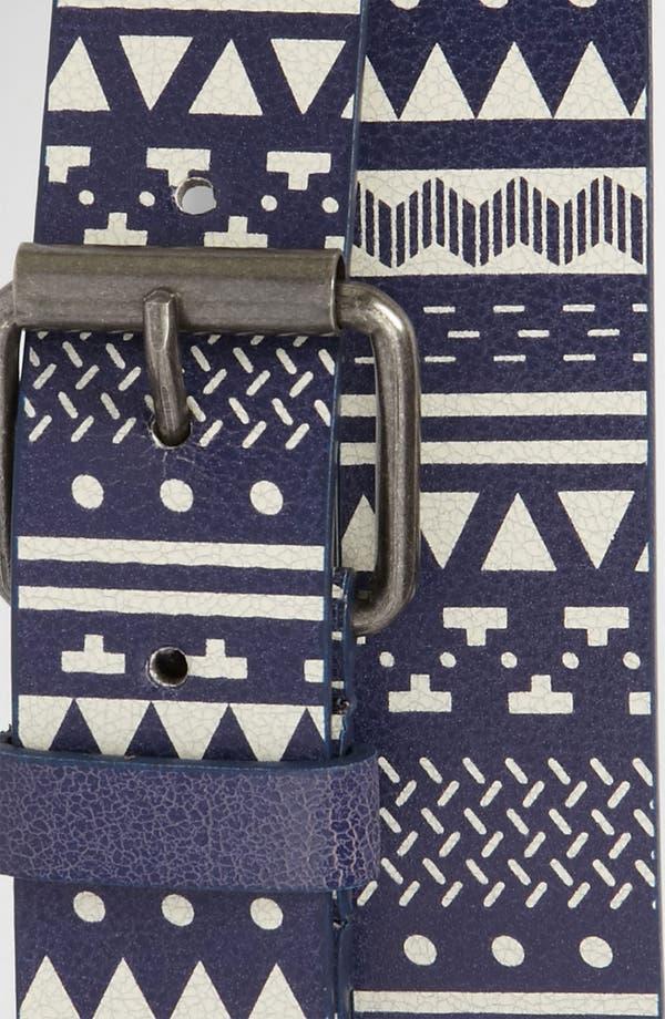 Alternate Image 2  - Topman Pattern Faux Leather Belt
