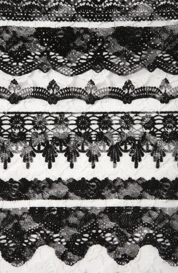 Alternate Image 3  - Topshop 'Baroque' Velvet Lace Tank