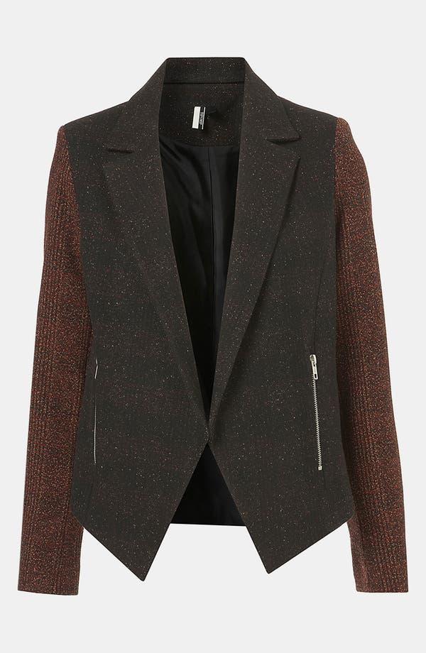 Main Image - Topshop Inverse Plaid Tweed Jacket
