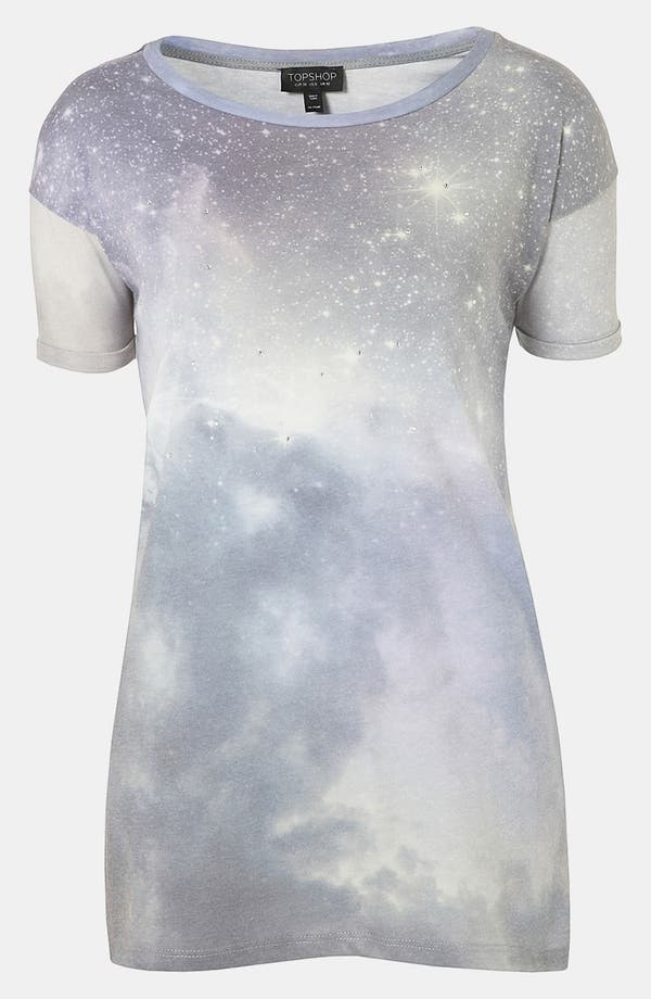 Alternate Image 1 Selected - Topshop 'Galactic Crystal' Tee