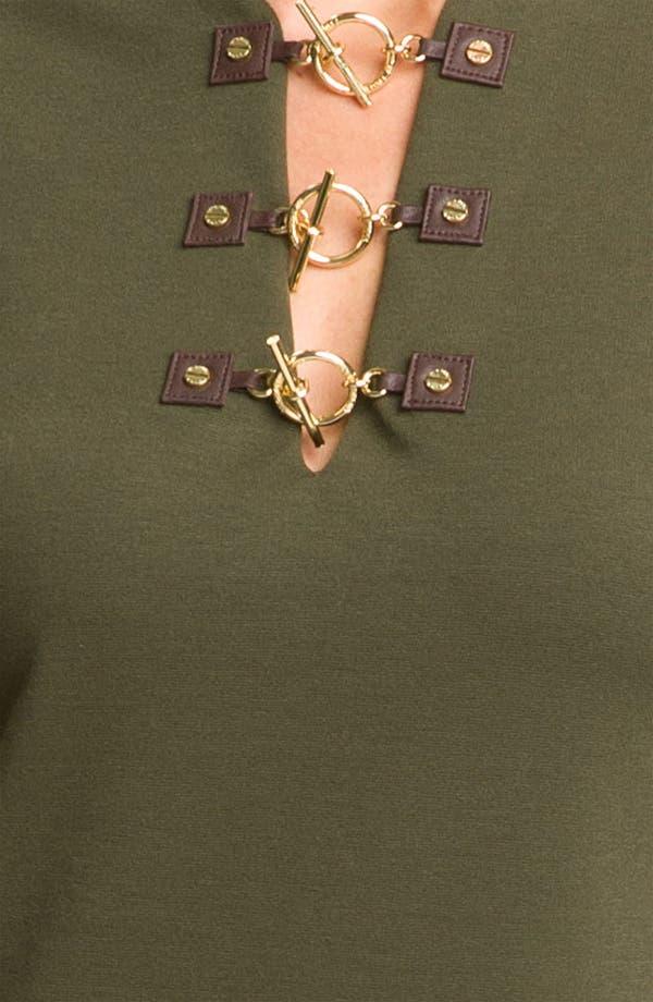 Alternate Image 3  - MICHAEL Michael Kors Toggle Neck Dress