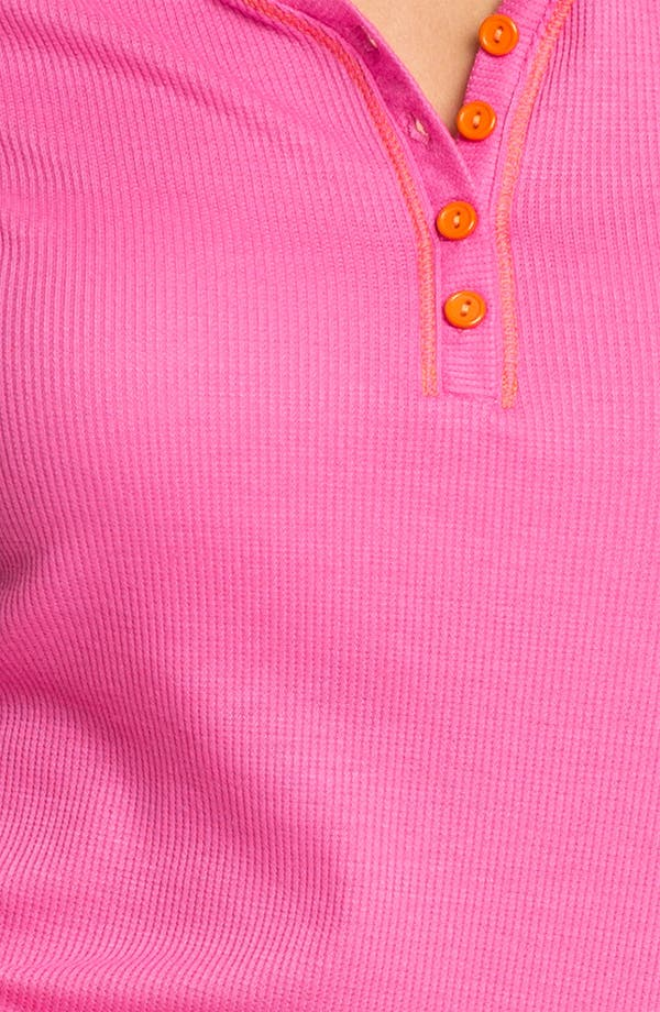 Contrast Trim Pajamas,                             Alternate thumbnail 3, color,                             Hot Pink W/ Dreamsicle