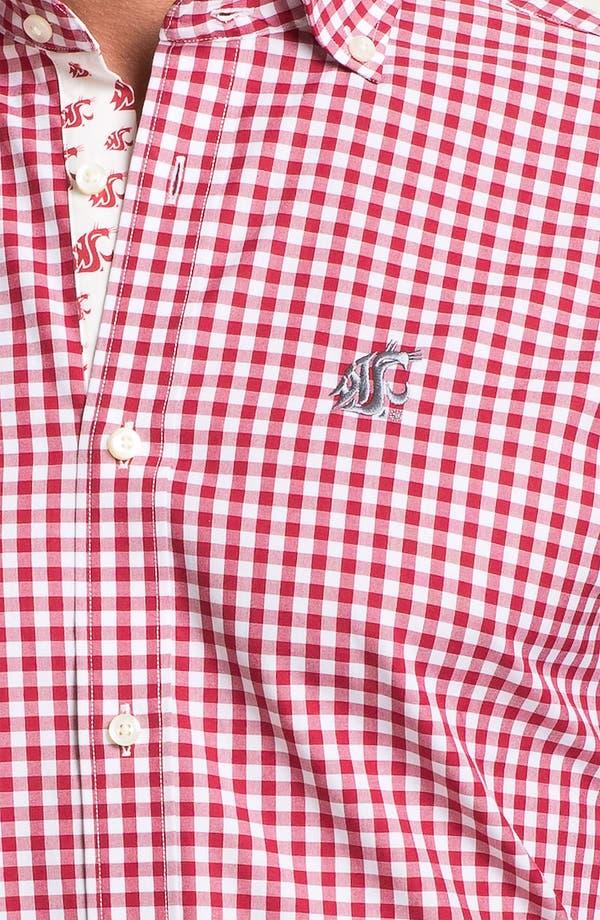 Alternate Image 3  - Thomas Dean 'Washington State University' Gingham Sport Shirt