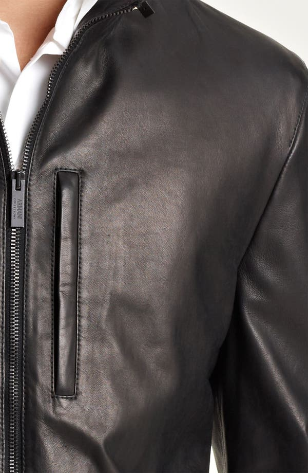 Alternate Image 3  - Armani Collezioni Leather Parka