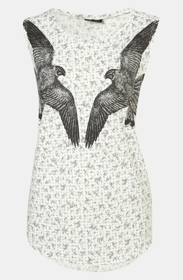 Alternate Image 1 Selected - Topshop Falcon Print Tank