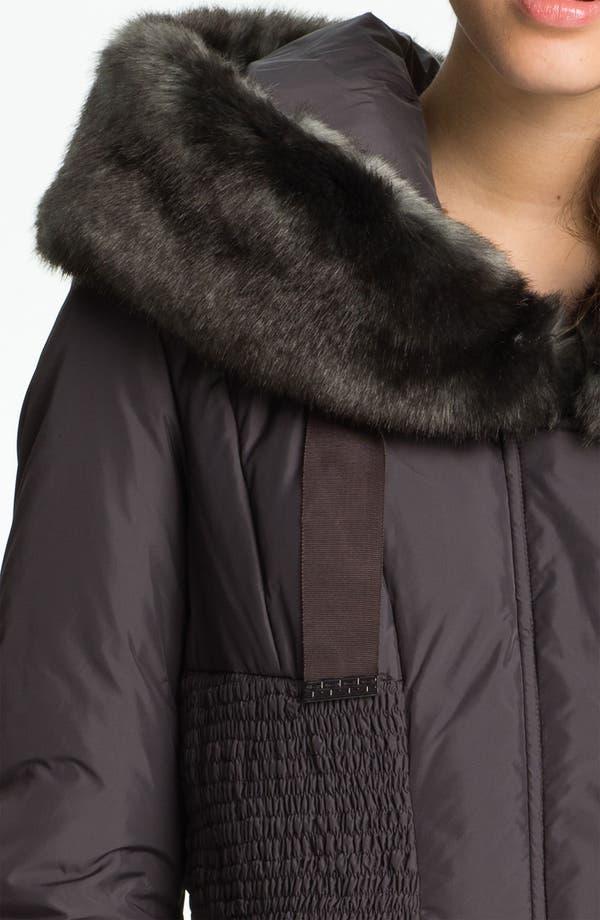 Alternate Image 3  - Tahari 'Nina' Down Coat with Faux Fur Trim