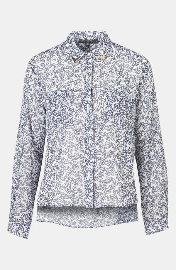 Alternate Image 1 Selected - Topshop Print Western Tip Shirt (Petite)