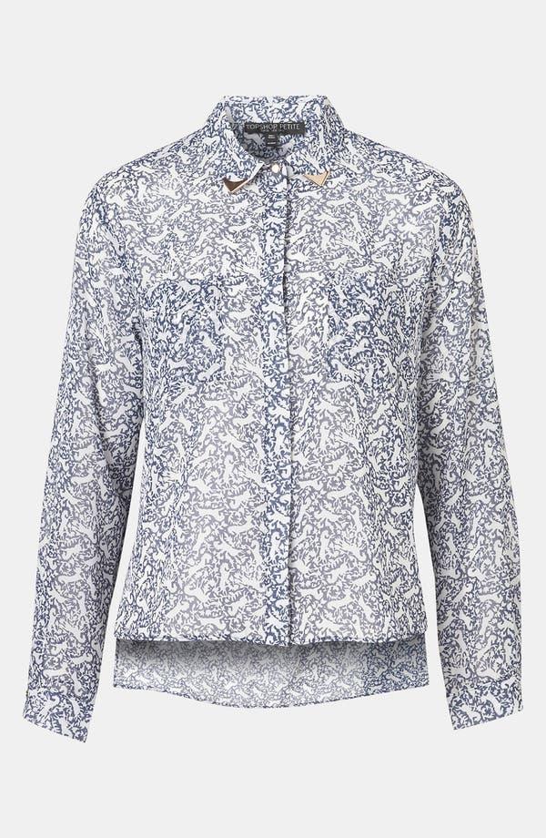 Main Image - Topshop Print Western Tip Shirt (Petite)
