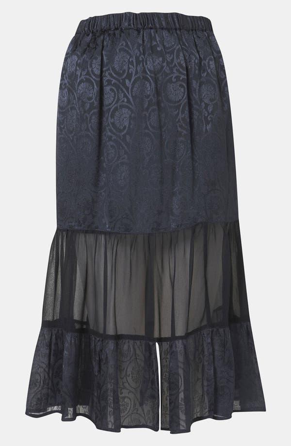 Main Image - Topshop Jacquard Tiered Midi Skirt
