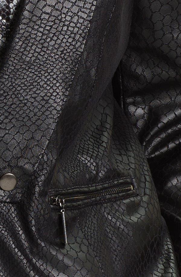 Alternate Image 3  - Mynt 1792 Python Print Faux Suede Jacket (Plus)