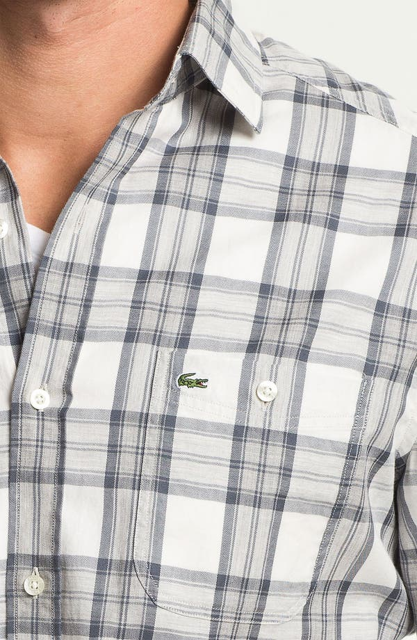 Alternate Image 3  - Lacoste Slim Fit Plaid Woven Shirt
