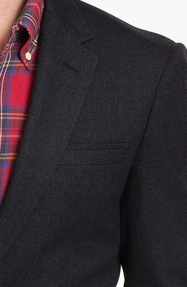 Alternate Image 3  - Michael Kors Wool Blend Blazer with Leather Trim