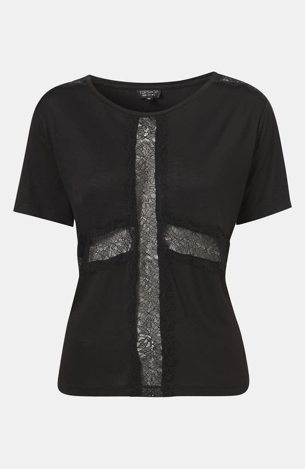 Alternate Image 1 Selected - Topshop 'Lace Cross' Tee