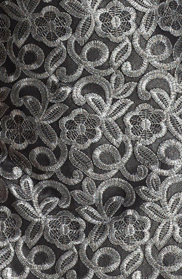 Alternate Image 3  - Donna Ricco Metallic Embroidered Sheath Dress