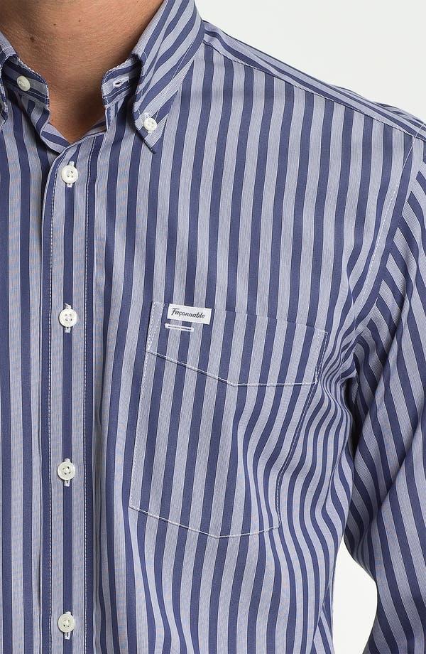 Façonnable Club Fit Sport Shirt,                             Alternate thumbnail 3, color,                             Blue