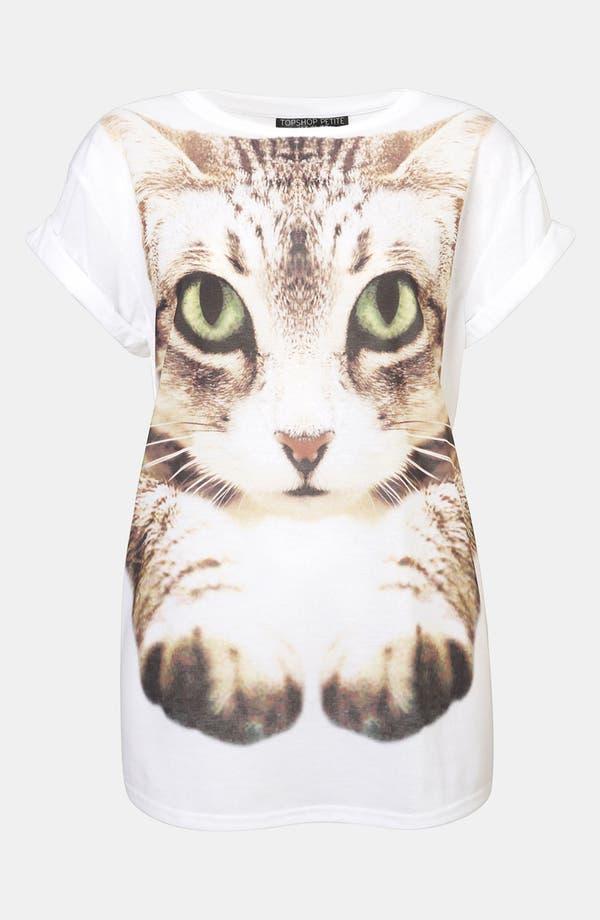 Alternate Image 1 Selected - Topshop Cat Photo Tee (Petite)