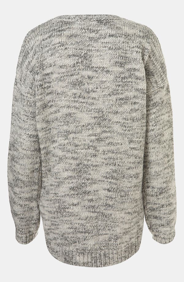Alternate Image 2  - Topshop Tweedy Rhinestone Embellished Sweater