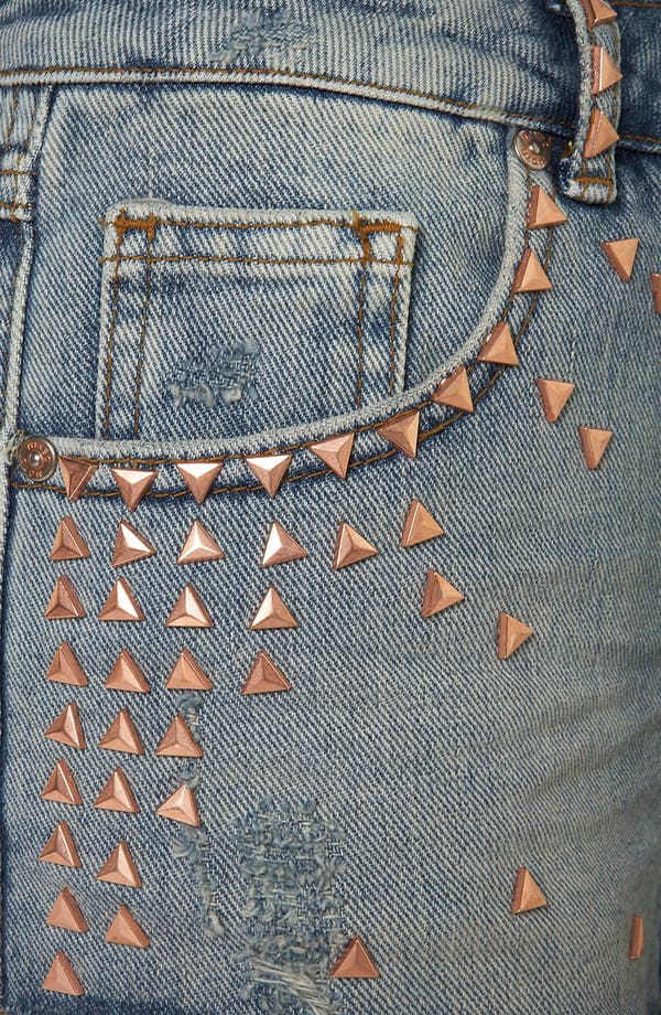 Alternate Image 3  - Topshop Moto 'Holly' Studded Denim Shorts