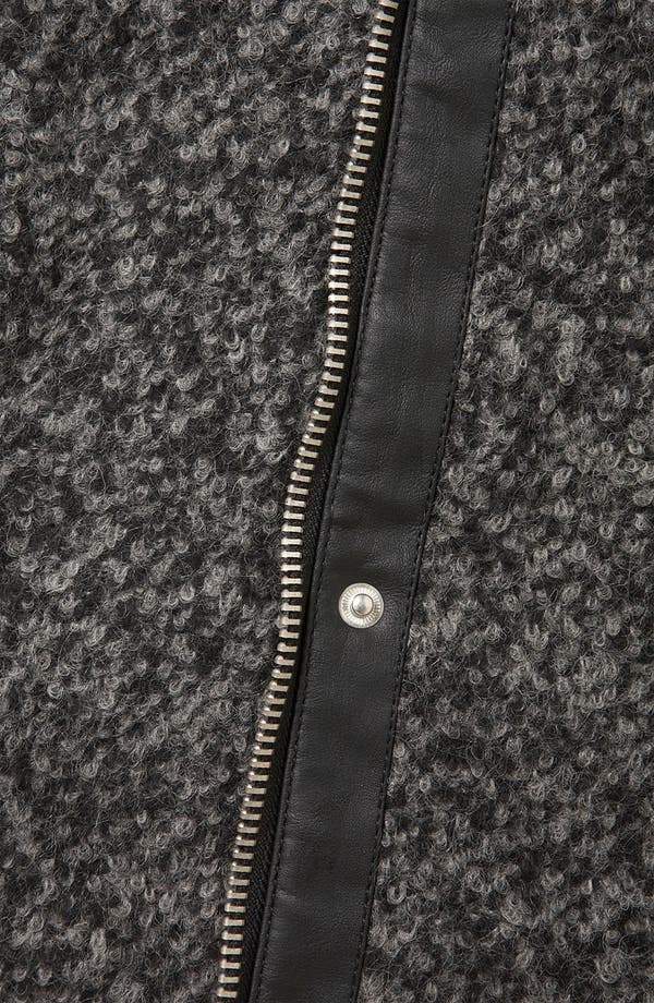 Alternate Image 3  - Topshop Textured Wool Biker Jacket
