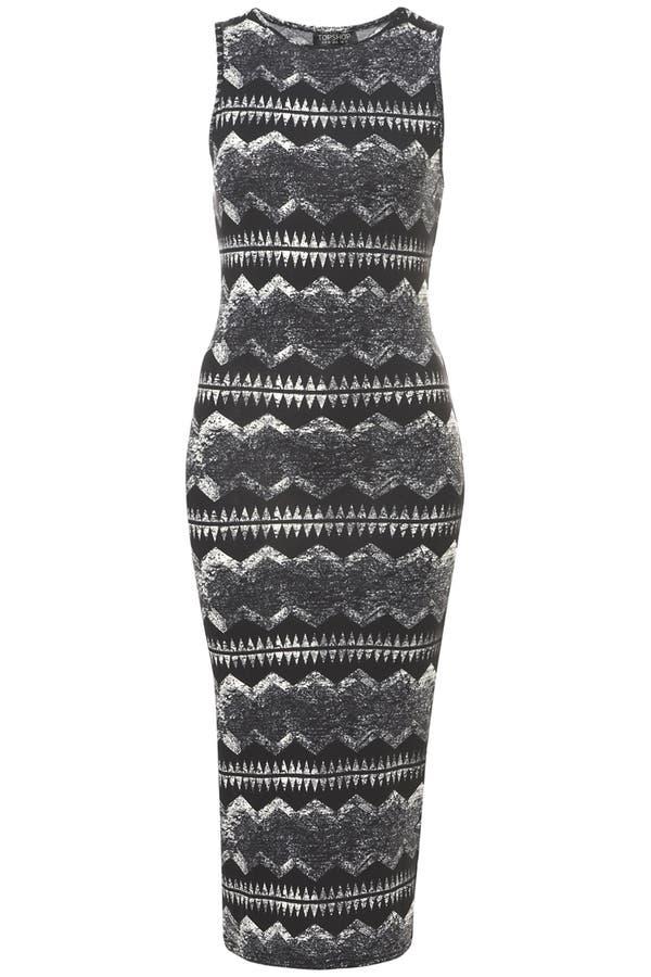Alternate Image 1 Selected - Topshop 'Yama' Print Midi Tank Dress